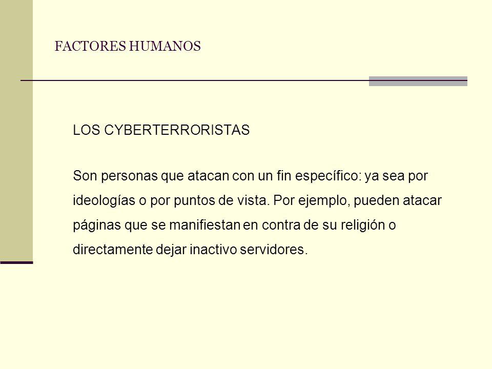 LOS CYBERTERRORISTAS FACTORES HUMANOS