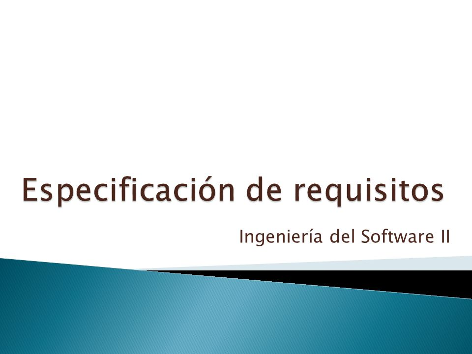 Especificación de requisitos