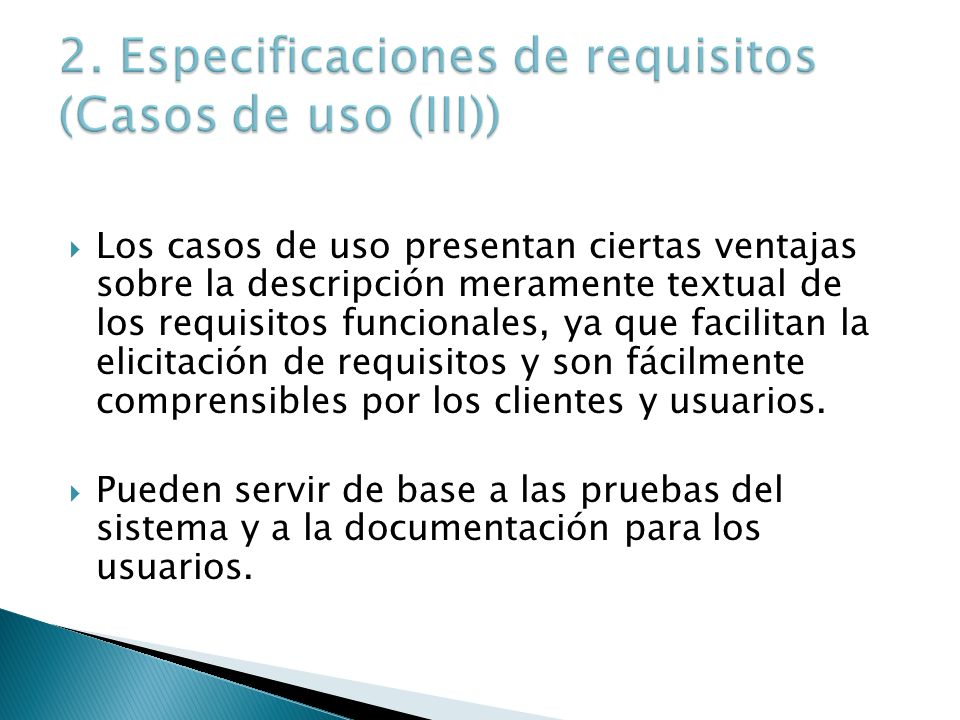 2. Especificaciones de requisitos (Casos de uso (III))