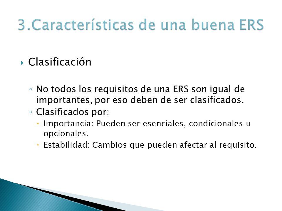 3.Características de una buena ERS