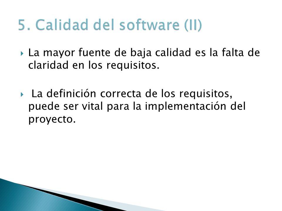 5. Calidad del software (II)