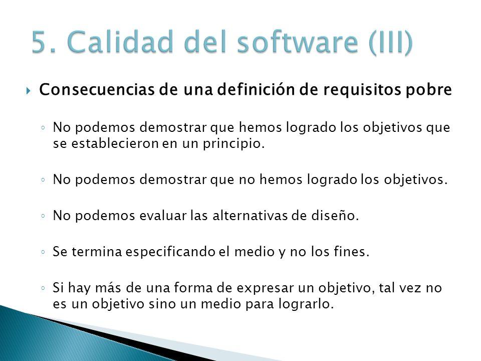 5. Calidad del software (III)