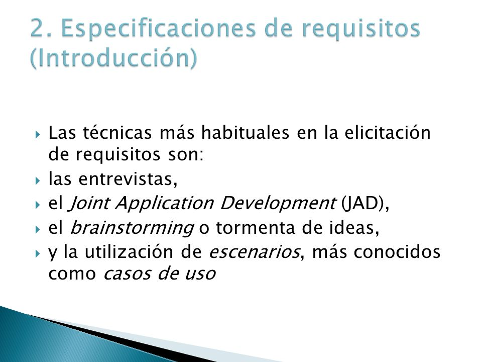 2. Especificaciones de requisitos (Introducción)