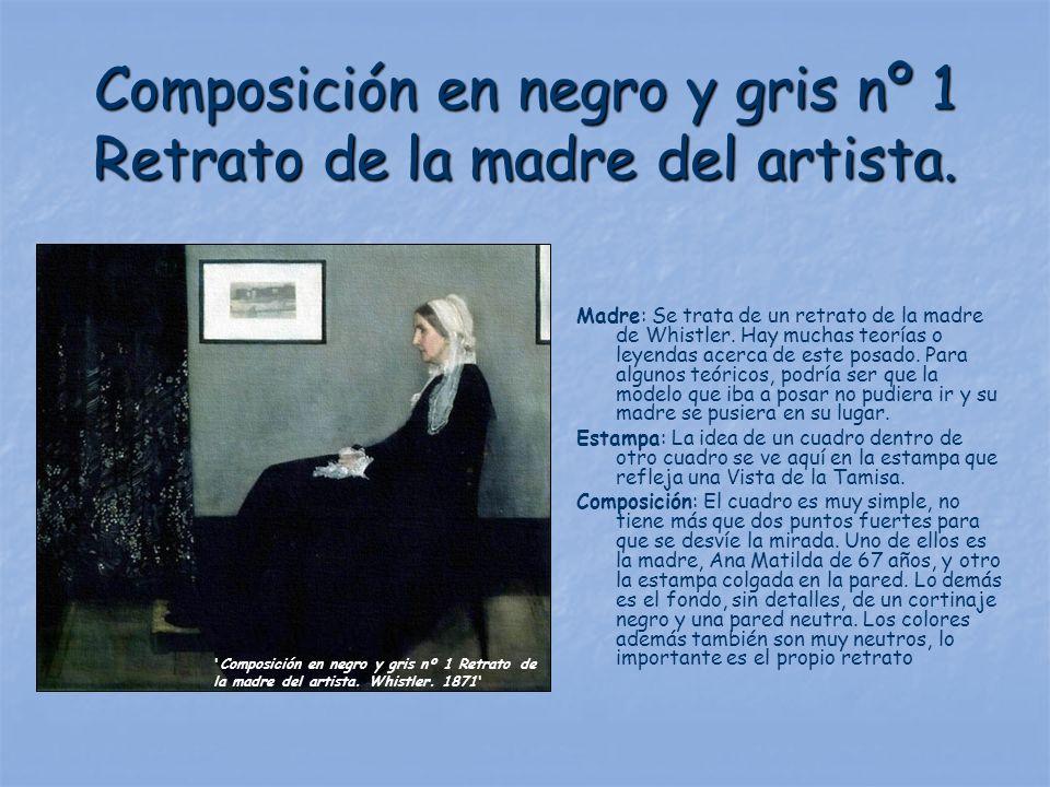 Composición en negro y gris nº 1 Retrato de la madre del artista.