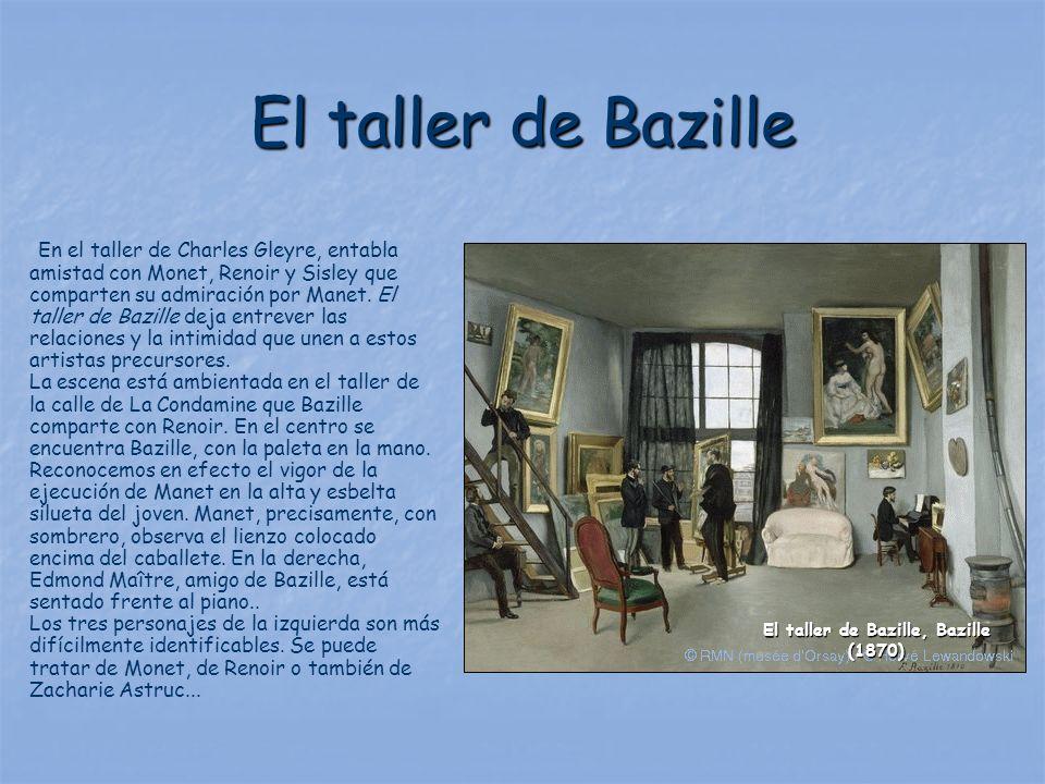 El taller de Bazille, Bazille (1870)