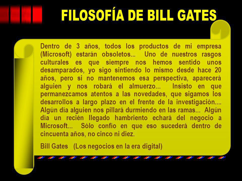 FILOSOFÍA DE BILL GATES