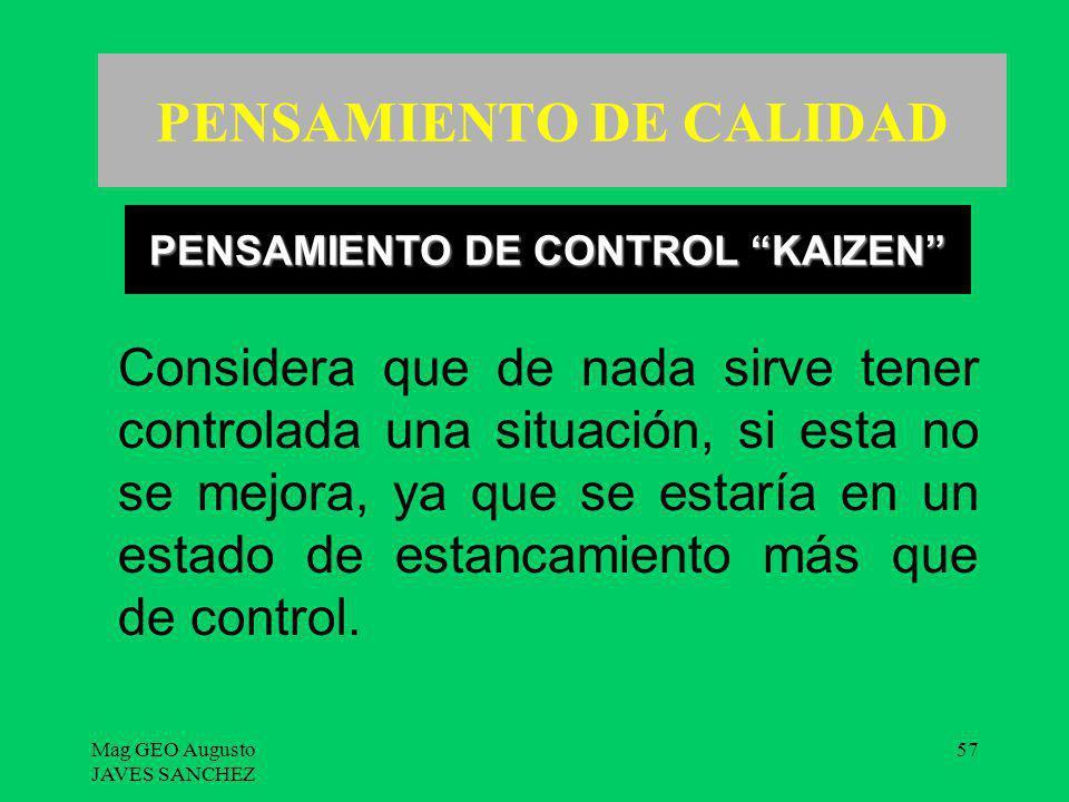 PENSAMIENTO DE CALIDAD