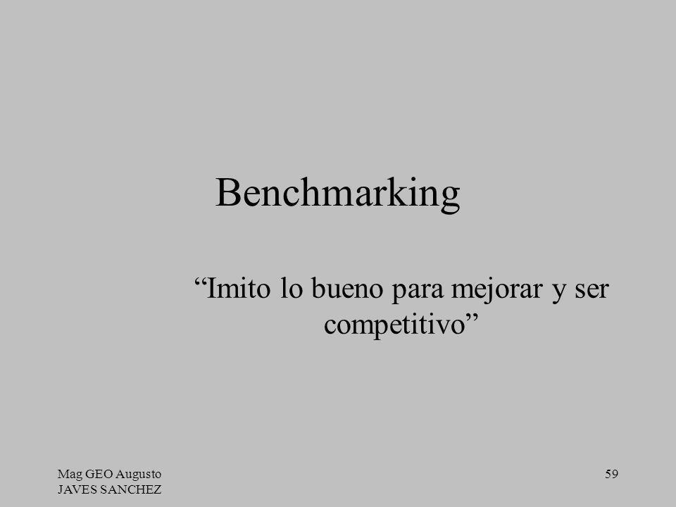 Imito lo bueno para mejorar y ser competitivo