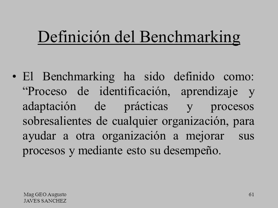 Definición del Benchmarking