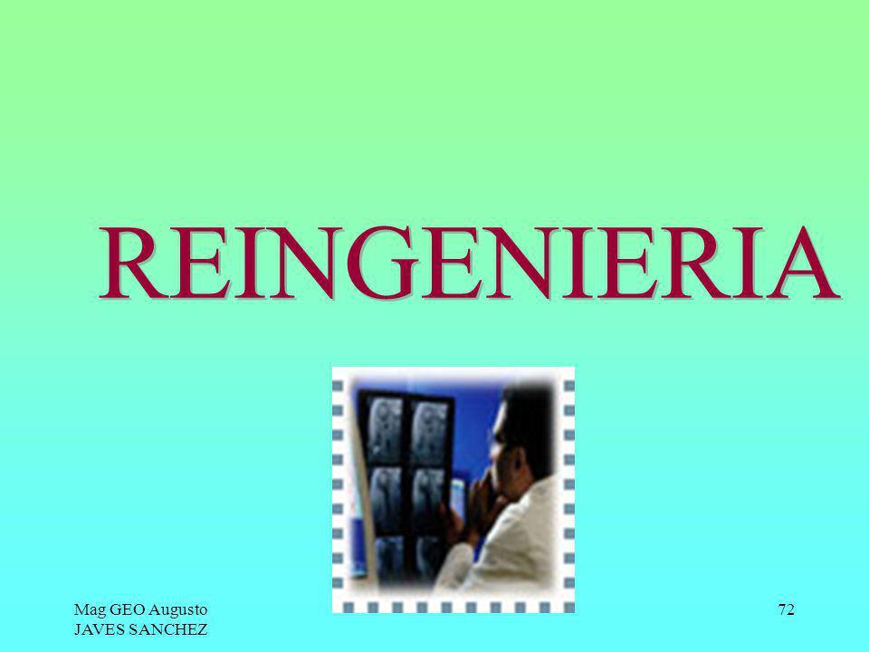 REINGENIERIA Mag GEO Augusto JAVES SANCHEZ