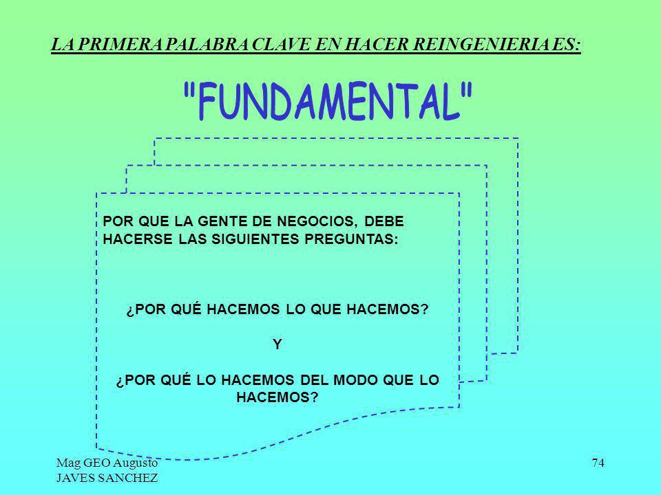 FUNDAMENTAL LA PRIMERA PALABRA CLAVE EN HACER REINGENIERIA ES: