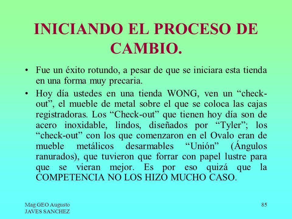 INICIANDO EL PROCESO DE CAMBIO.