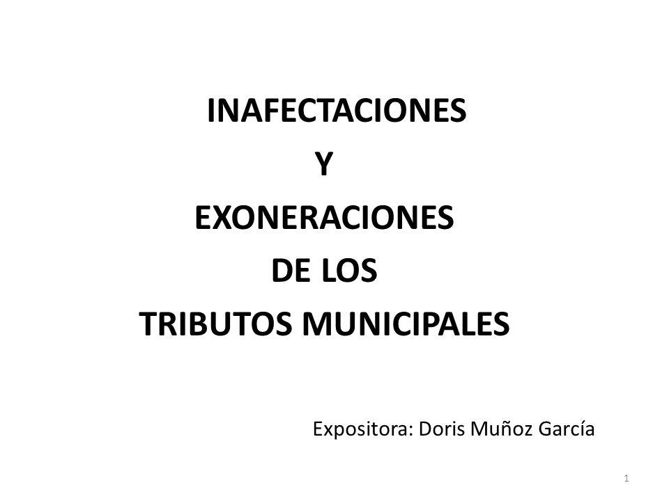 Y EXONERACIONES DE LOS TRIBUTOS MUNICIPALES