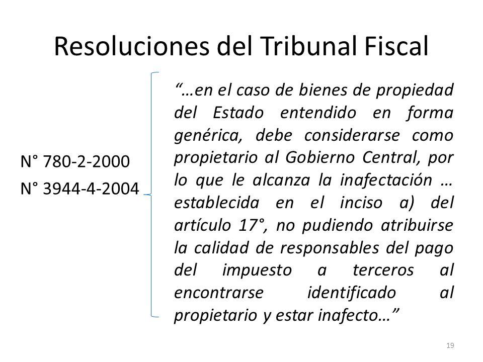 Resoluciones del Tribunal Fiscal