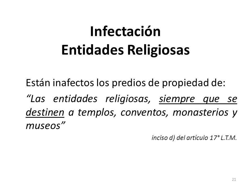 Infectación Entidades Religiosas