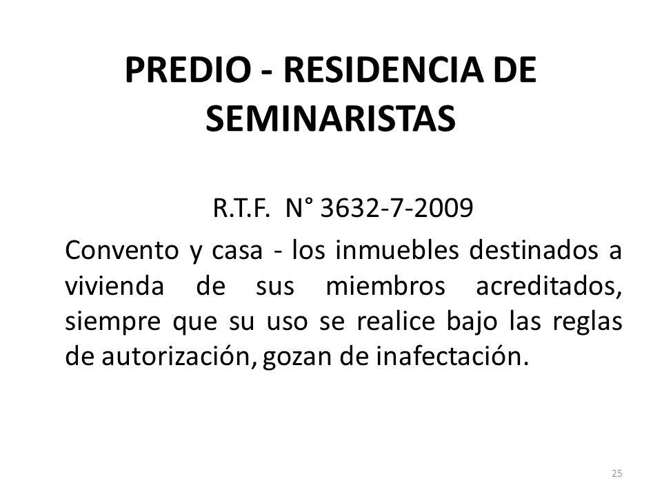PREDIO - RESIDENCIA DE SEMINARISTAS