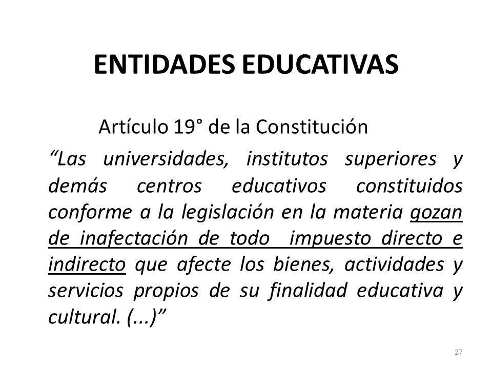 Artículo 19° de la Constitución