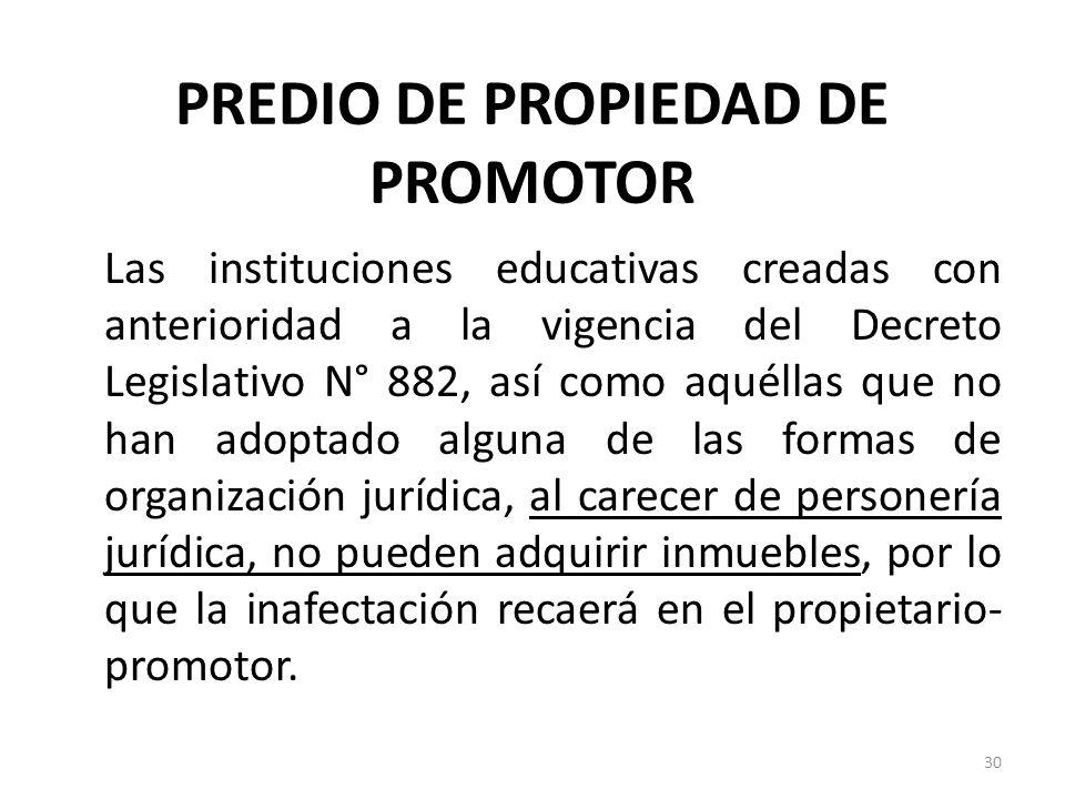 PREDIO DE PROPIEDAD DE PROMOTOR
