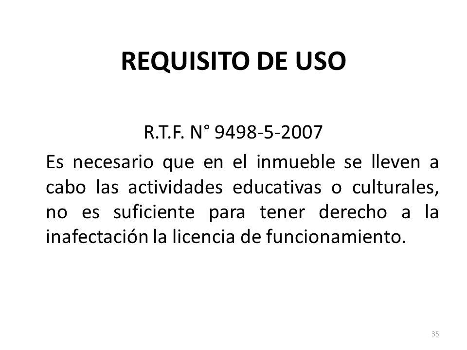 REQUISITO DE USO