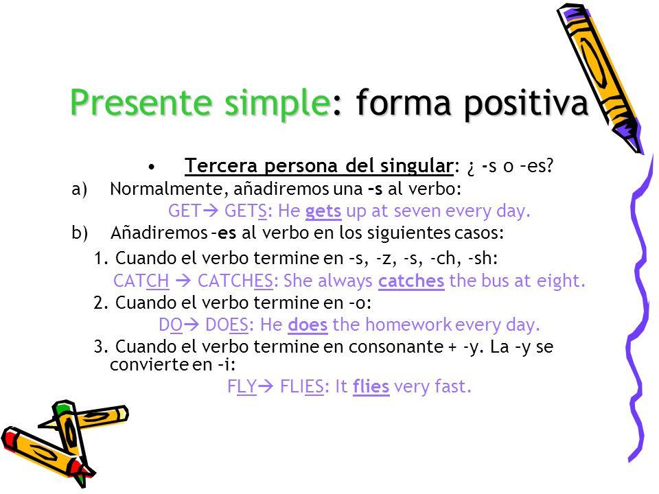 Presente simple: forma positiva