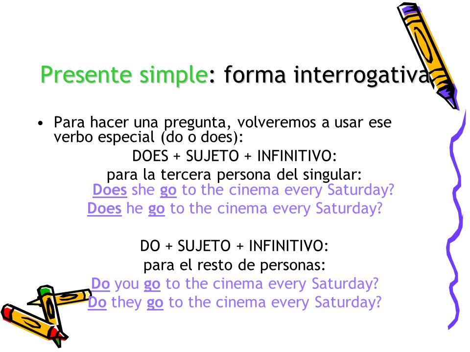 Presente simple: forma interrogativa