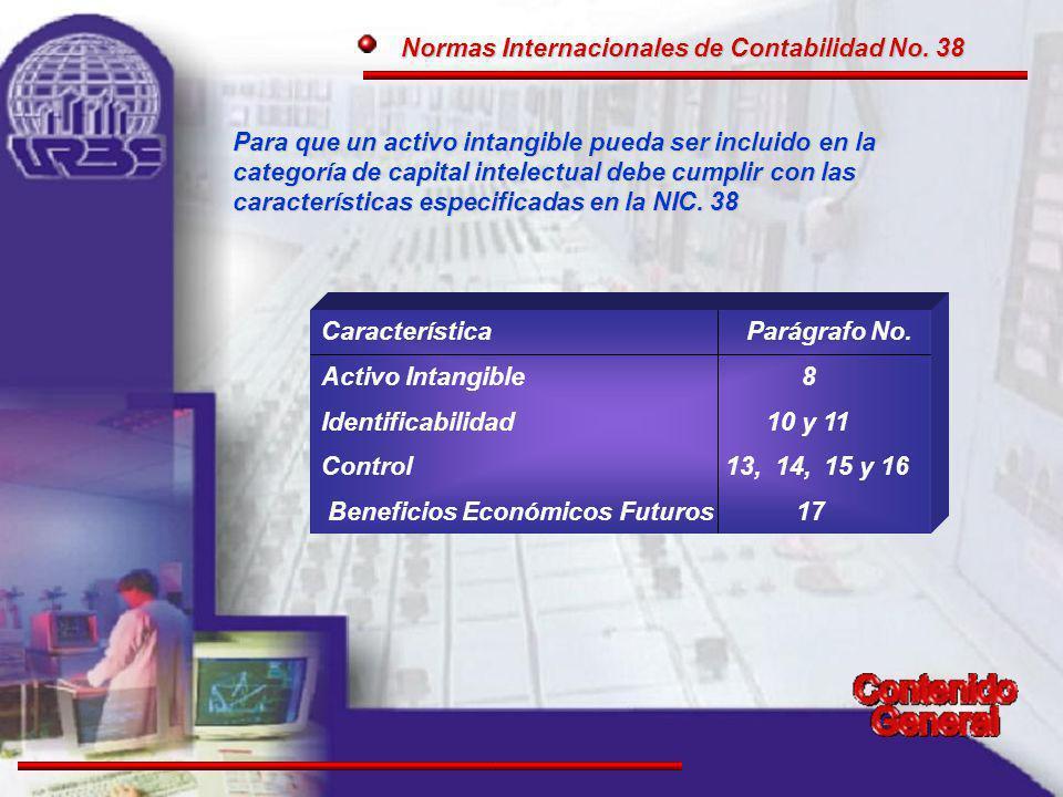 Normas Internacionales de Contabilidad No. 38