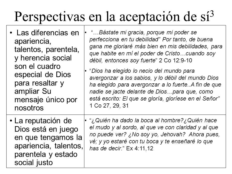 Perspectivas en la aceptación de sí3