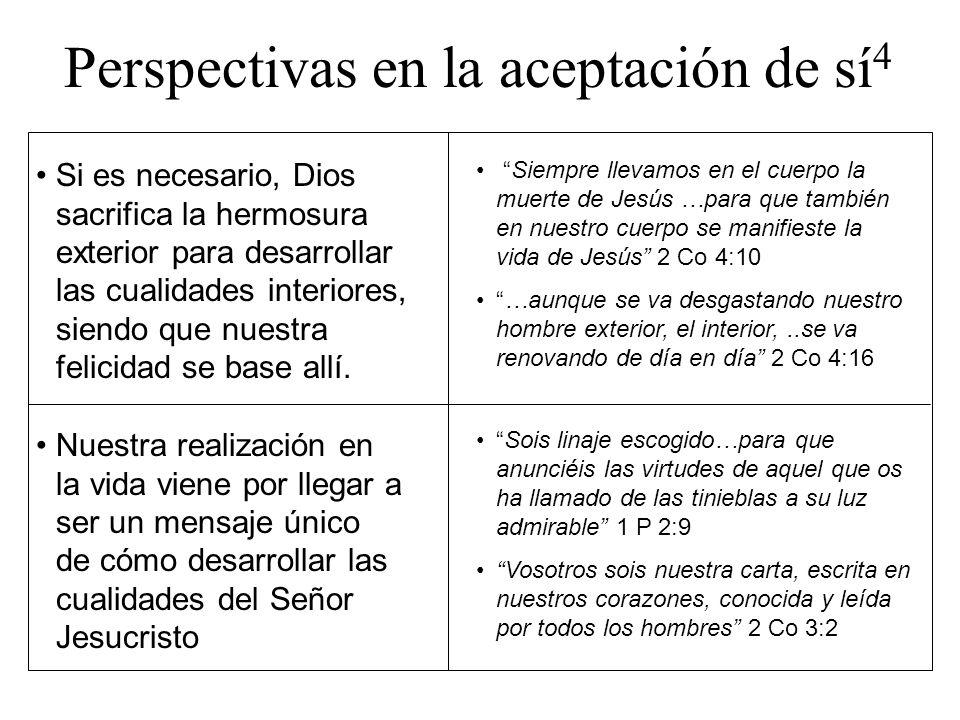 Perspectivas en la aceptación de sí4