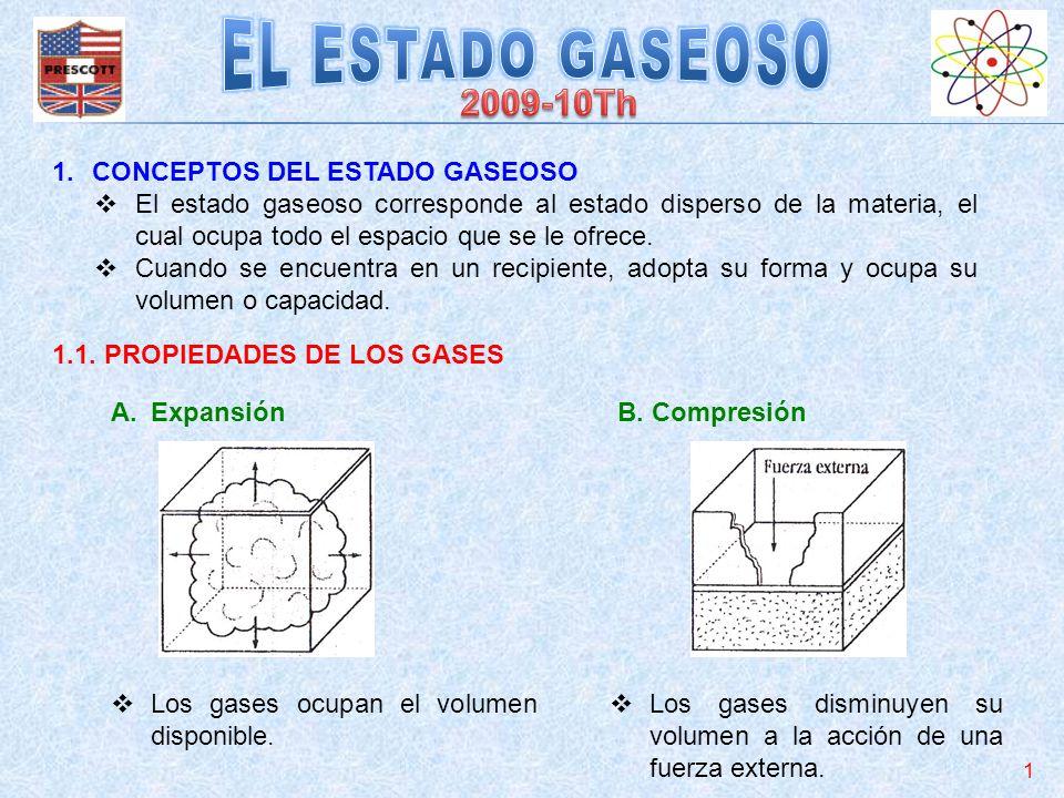 EL ESTADO GASEOSO 2009-10Th CONCEPTOS DEL ESTADO GASEOSO
