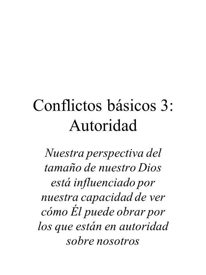 Conflictos básicos 3: Autoridad