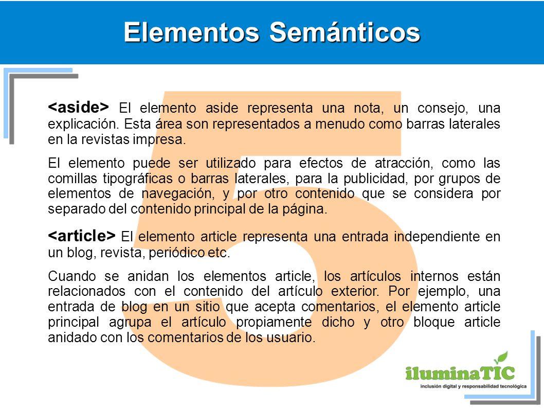Elementos Semánticos 5.