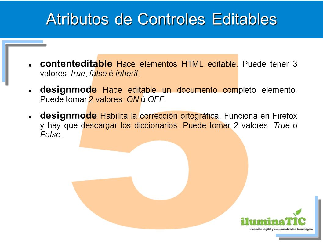Atributos de Controles Editables