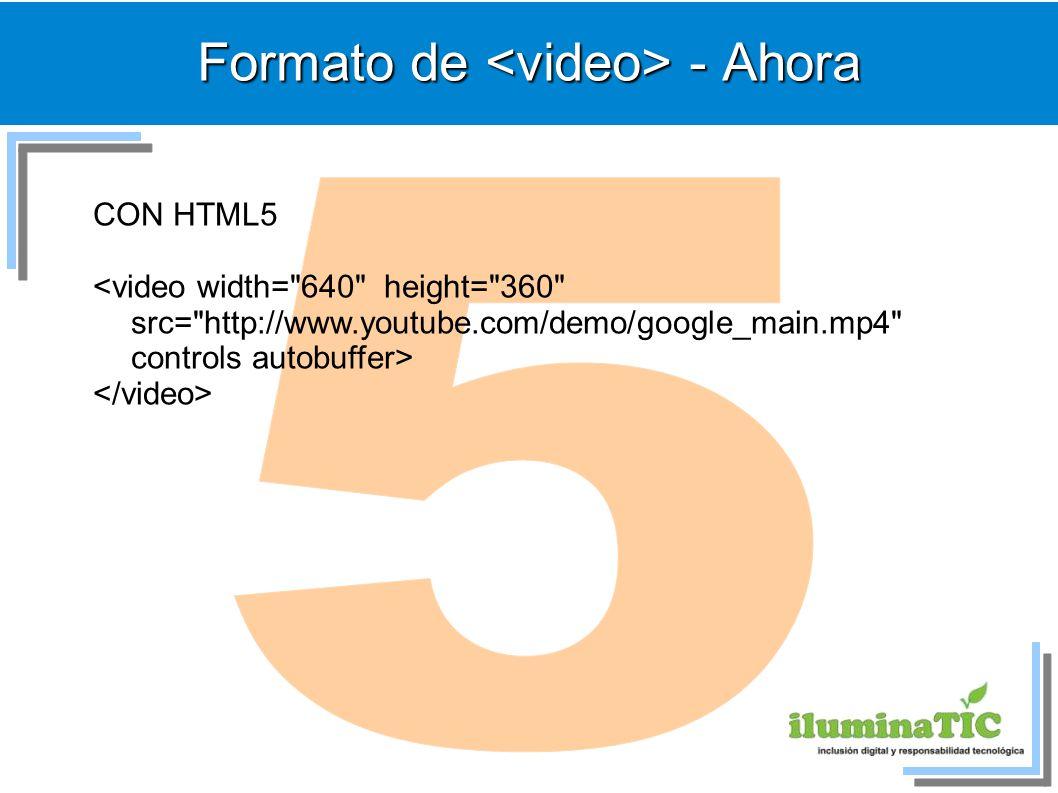 Formato de <video> - Ahora