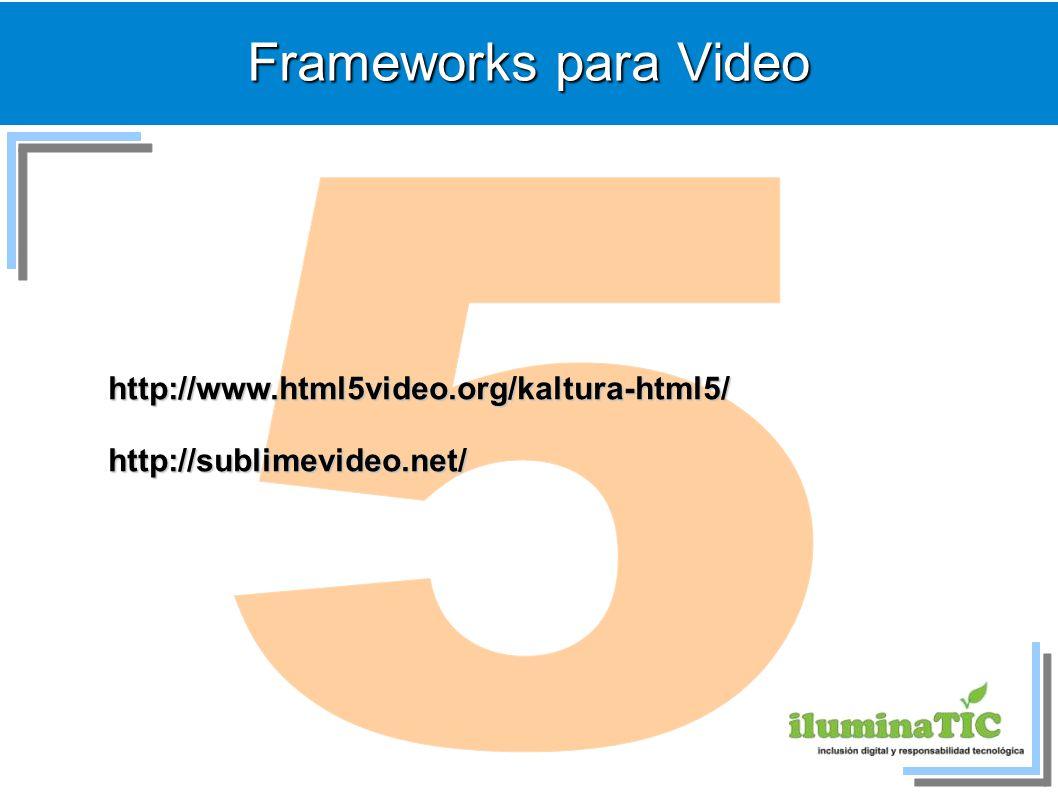 5 Frameworks para Video http://www.html5video.org/kaltura-html5/