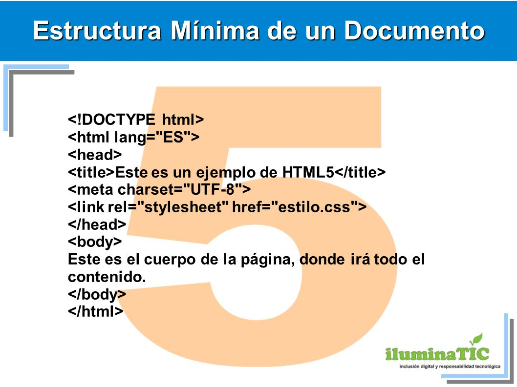 Estructura Mínima de un Documento