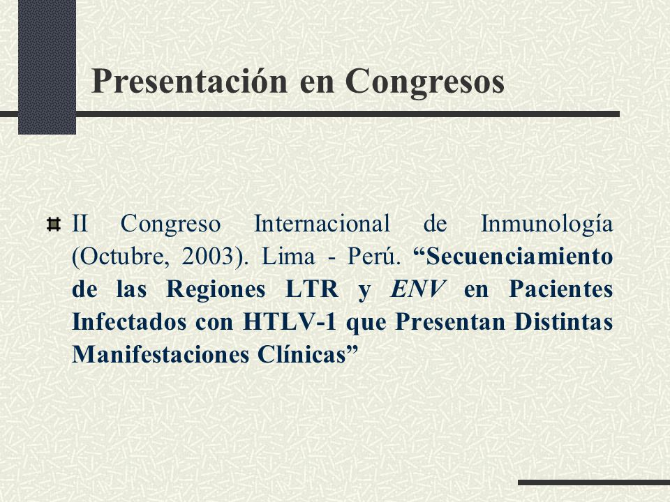 Presentación en Congresos