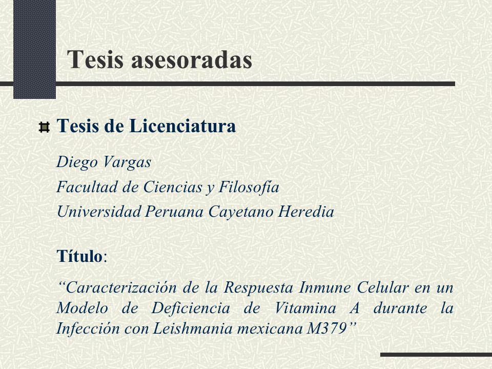 Tesis asesoradas Tesis de Licenciatura Diego Vargas