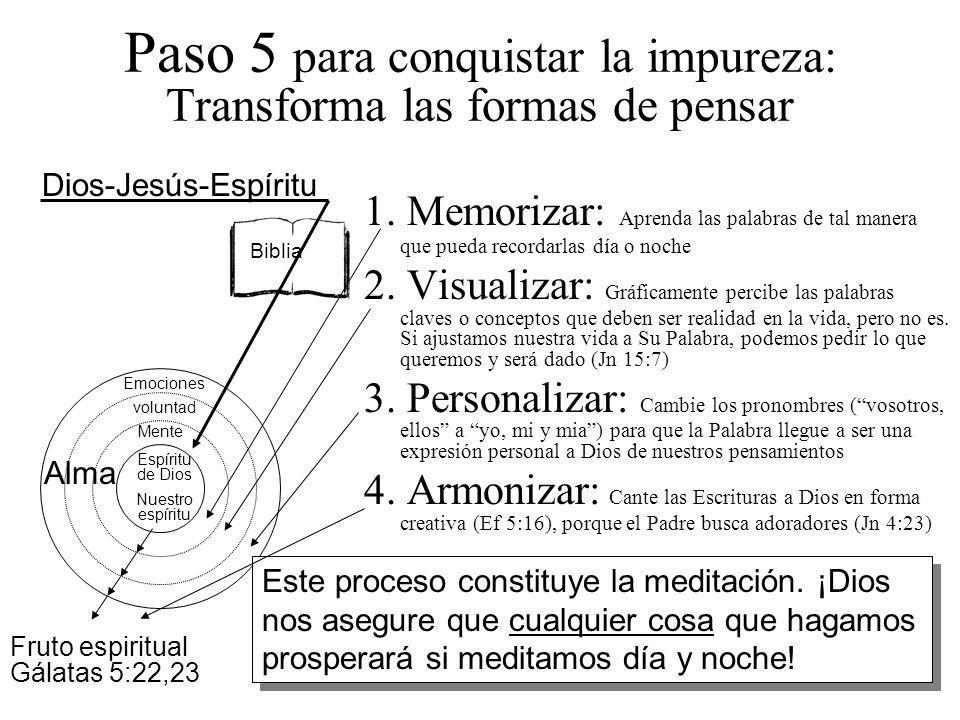 Paso 5 para conquistar la impureza: Transforma las formas de pensar