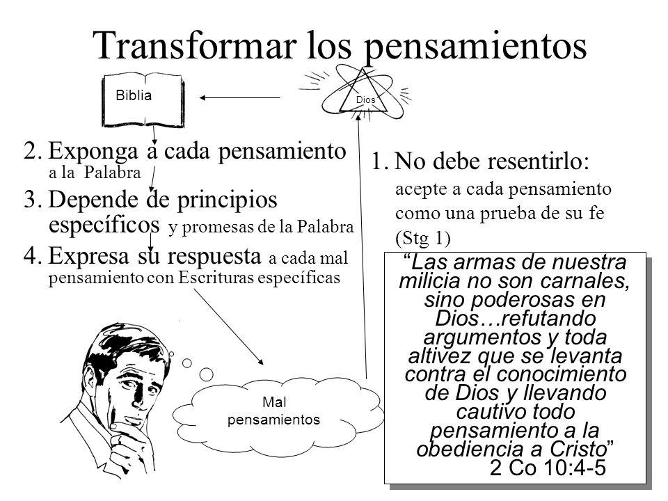 Transformar los pensamientos
