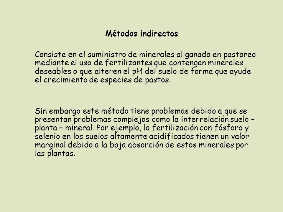 Métodos indirectos