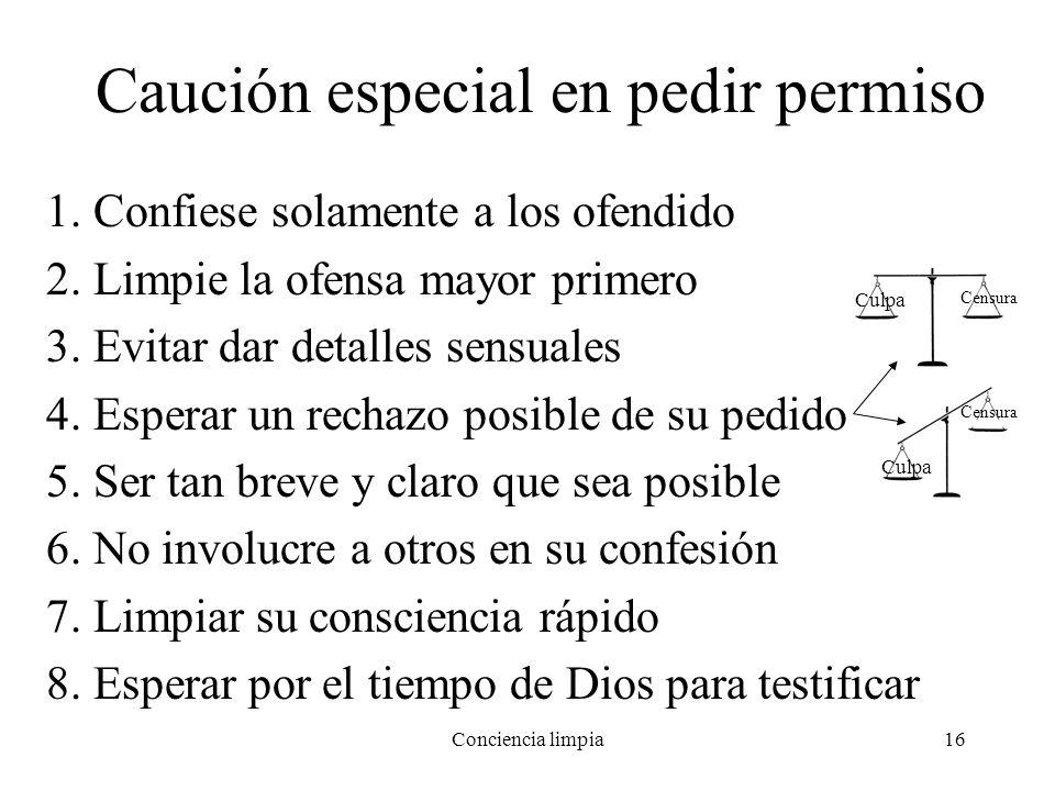 Caución especial en pedir permiso