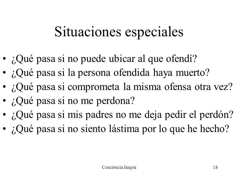Situaciones especiales