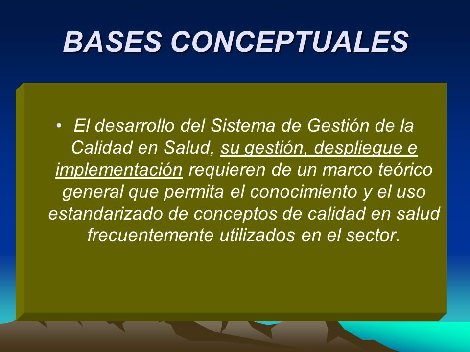 BASES CONCEPTUALES