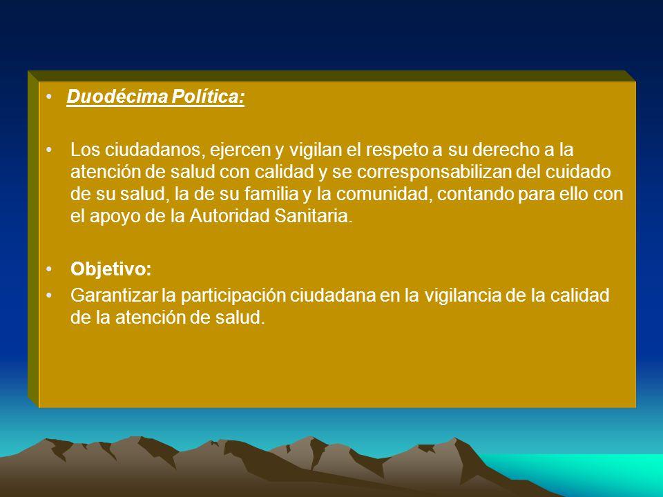 Duodécima Política: