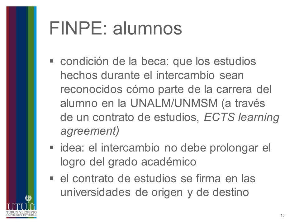 FINPE: alumnos