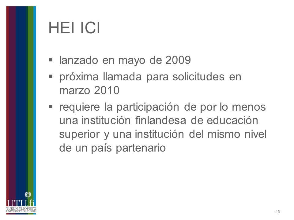 HEI ICI lanzado en mayo de 2009