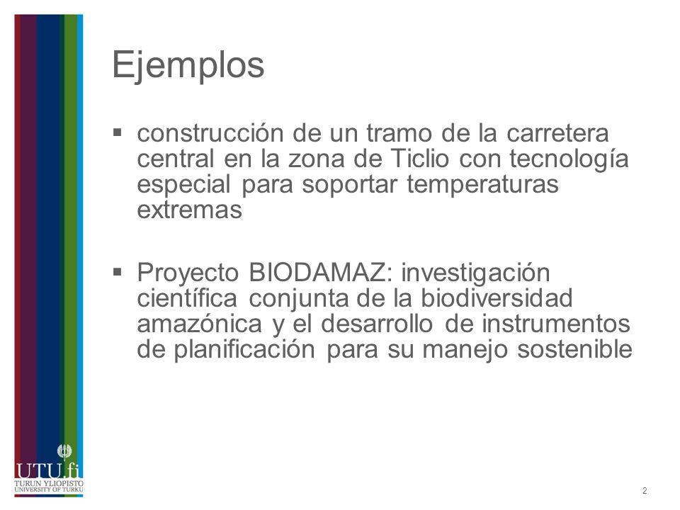 Ejemplos construcción de un tramo de la carretera central en la zona de Ticlio con tecnología especial para soportar temperaturas extremas.