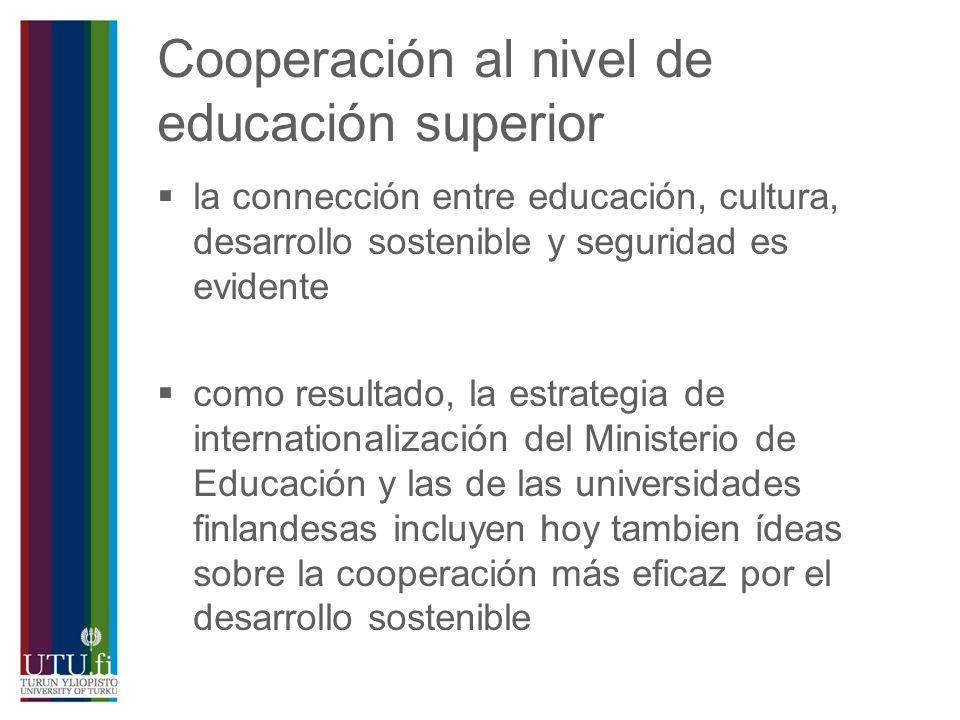 Cooperación al nivel de educación superior