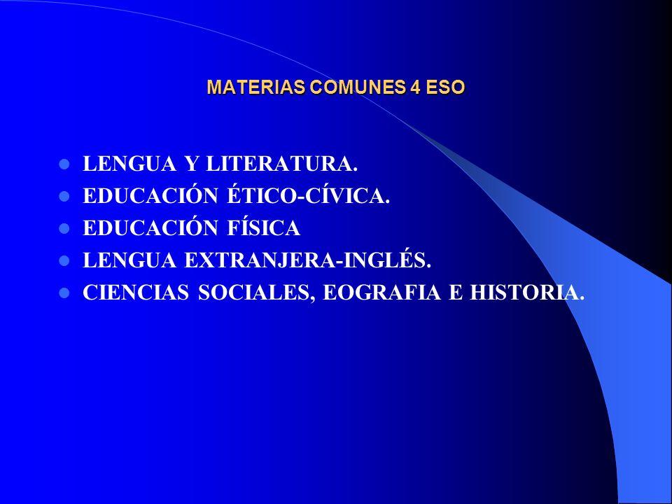 EDUCACIÓN ÉTICO-CÍVICA. EDUCACIÓN FÍSICA LENGUA EXTRANJERA-INGLÉS.