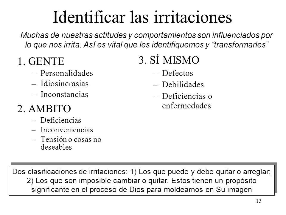 Identificar las irritaciones